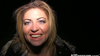 Killergram Filthy Emma dogging in the woods and eating cum