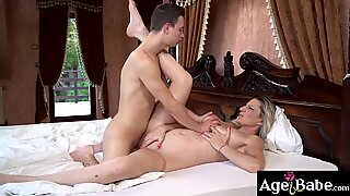Nikki is a young man who is so turned on by the granny'_s massive tits like Conchita
