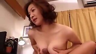 39yr aged asian Step mom Loves Her Sons Cock