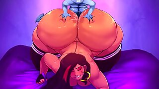 BBW Succubus Gala Gets Giant Ass Plowed (Gmeen and Carmessi Collab)
