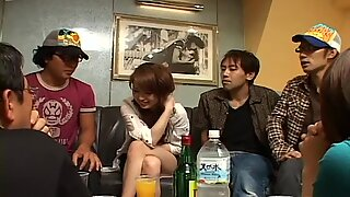 Horny asian chick Hikaru Houzuki feels great naked in front of her friends